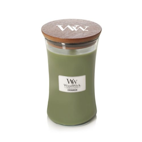 Evergreen Large Hourglass Candle