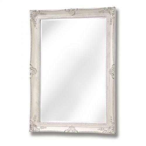 White Antique French Vintage Style Mirror