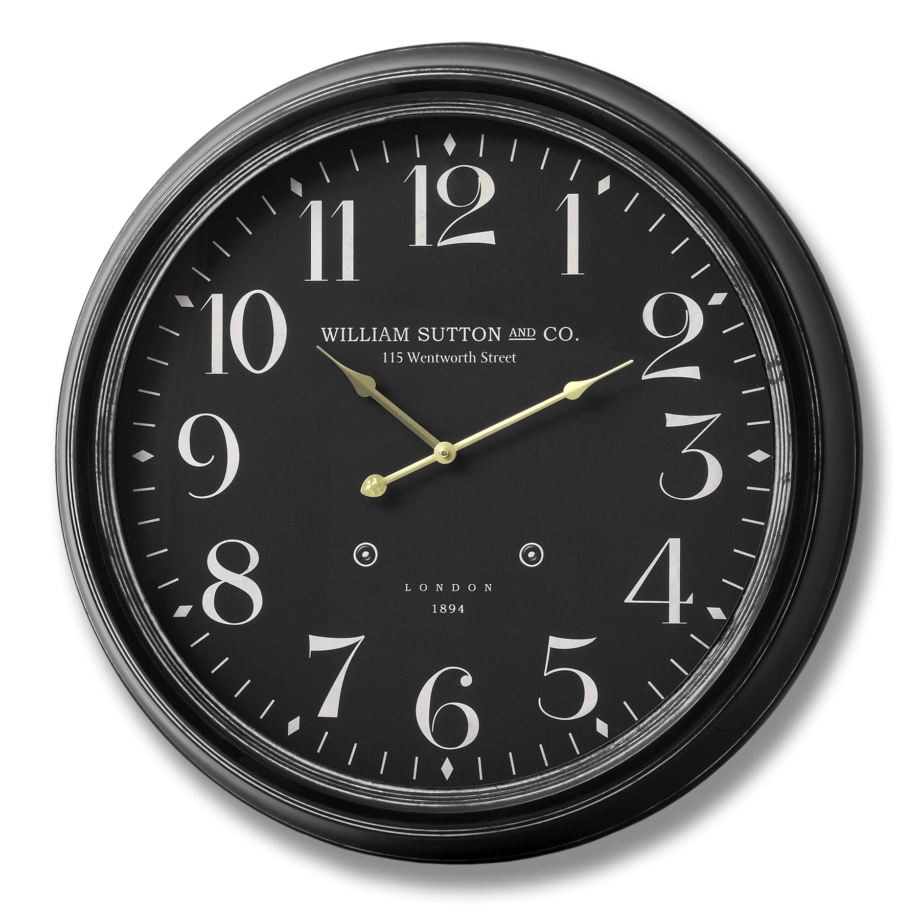 William Sutton and Co Large Glass Faced Wall Clock