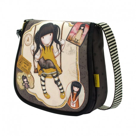 Gorjuss Small Shoulder Bag with Flap - Ruby (Yellow)