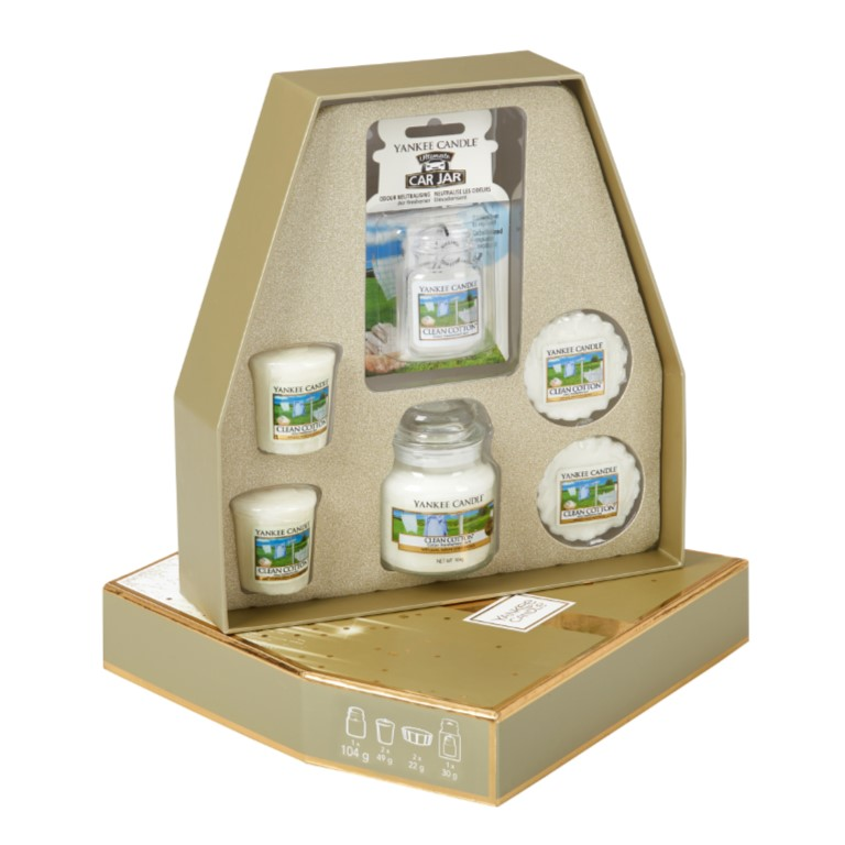 Yankee Candle Clean Cotton Fragrance Gift Set