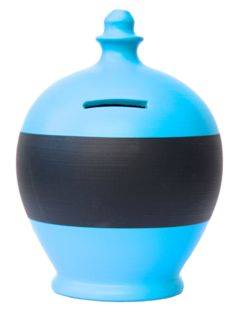 BB19 Pale Blue with Black Blackboard Band (Each Pot comes with a packet of Chalk)