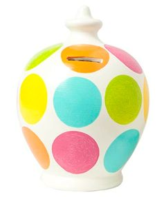 C10 Pink, aqua, lime, orange, yellow large spots