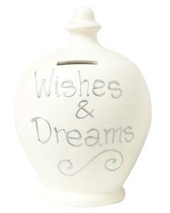 Terramundi S27 Cream with Wishes & Dreams written in Silver
