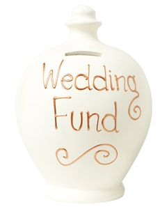 S34 Cream with Wedding Fund written in Gold