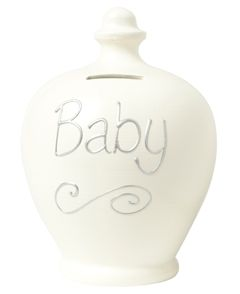 s48 Cream with Baby Written in Silver