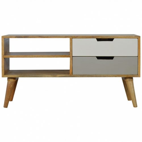 in190 Nordic Style Media Unit with 2 Drawers