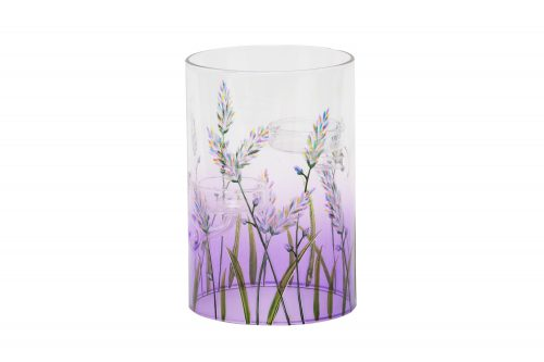 Lavender Crackle tea light holder