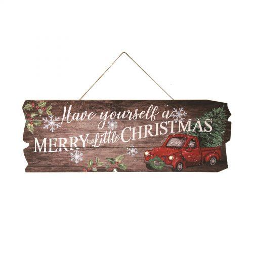 LED Christmas Plaque 21x60cm