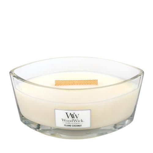 WoodWick Island Coconut Hearthwick Jar Candle