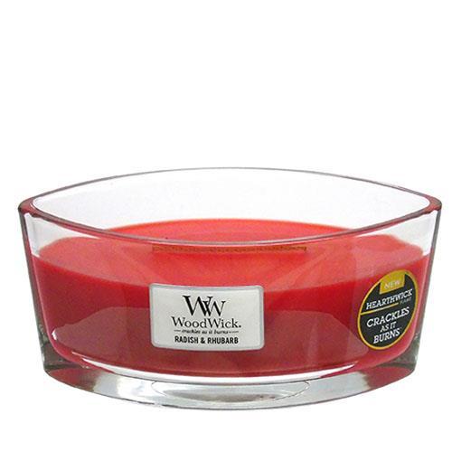 WoodWick Radish and Rhubarb Hearthwick Jar Candle
