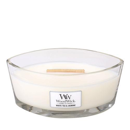 WoodWick White Tea and Jasmine Hearthwick Jar Candle
