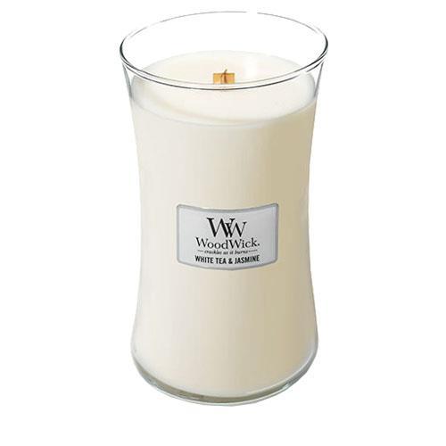 WoodWick White Tea and Jasmine Large Jar Candle