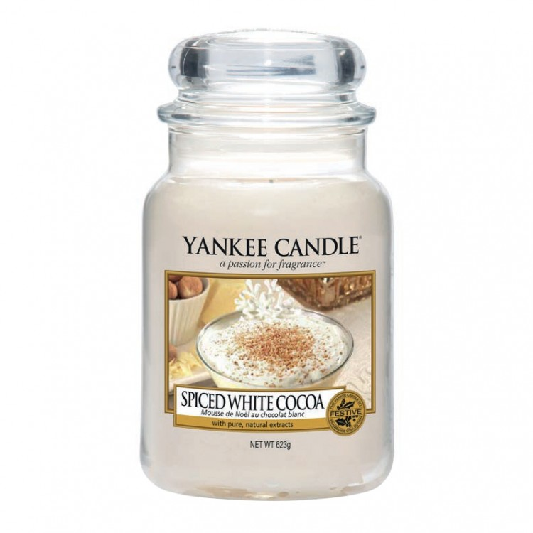 Yankee Candle Spiced White Cocoa Large Jar Candle
