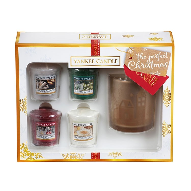 Yankee Candle The Perfect Christmas 4 Votive Candle & Holder