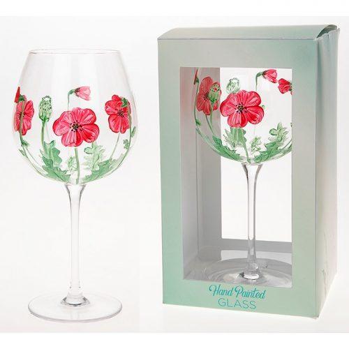 Arty Gin Glass Poppy