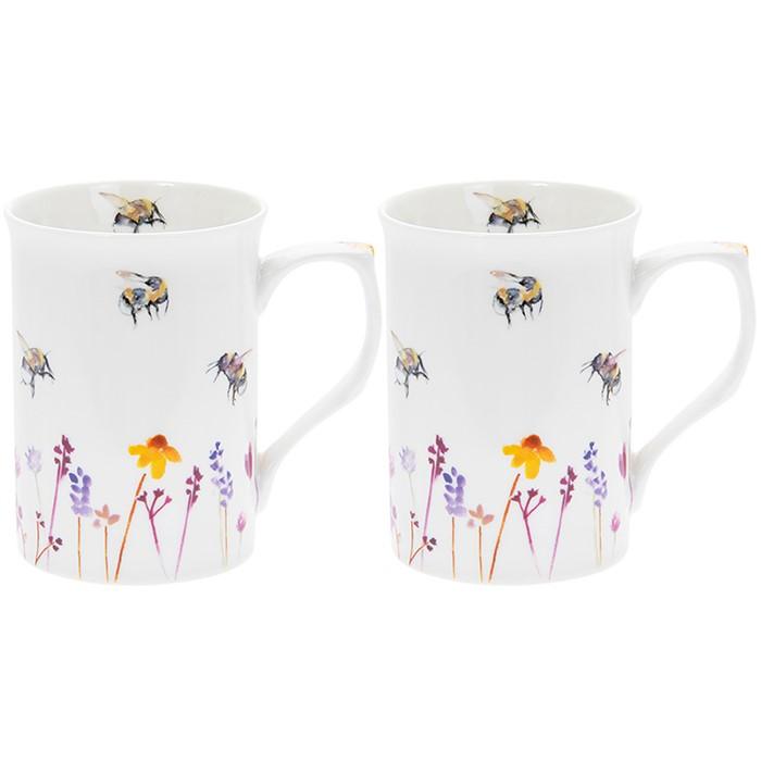Busy Bees Boxed Mug Set of 2