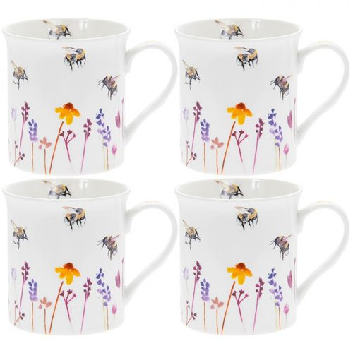 Busy Bees Boxed Mug Set of 4