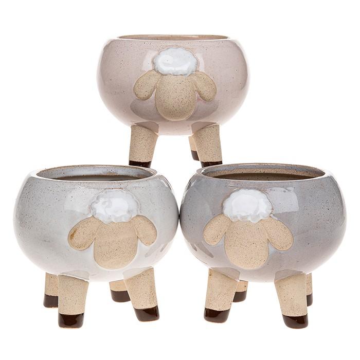 Glazed Pot Sheep Large