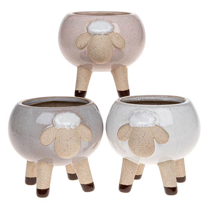 Glazed Pot Sheep Medium