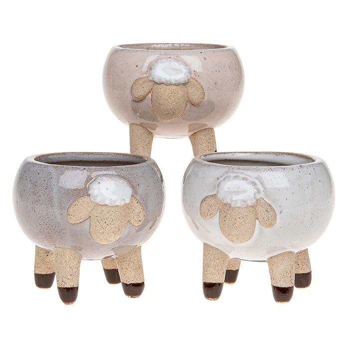 Glazed Pot Sheep Small