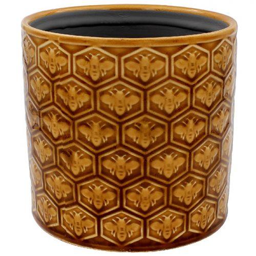 Golden Bees Planter Medium