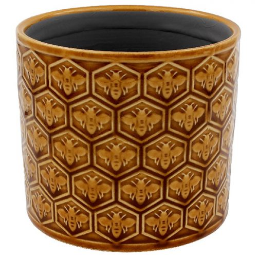 Golden Bees Planter Small