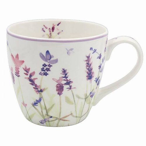 Purple Lavender Breakfast Mug