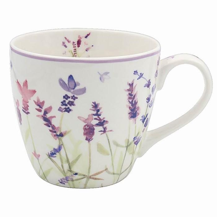 Purple Lavender Breakfast Mug