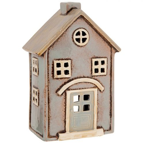 Village Pottery Beige House Tealight Large