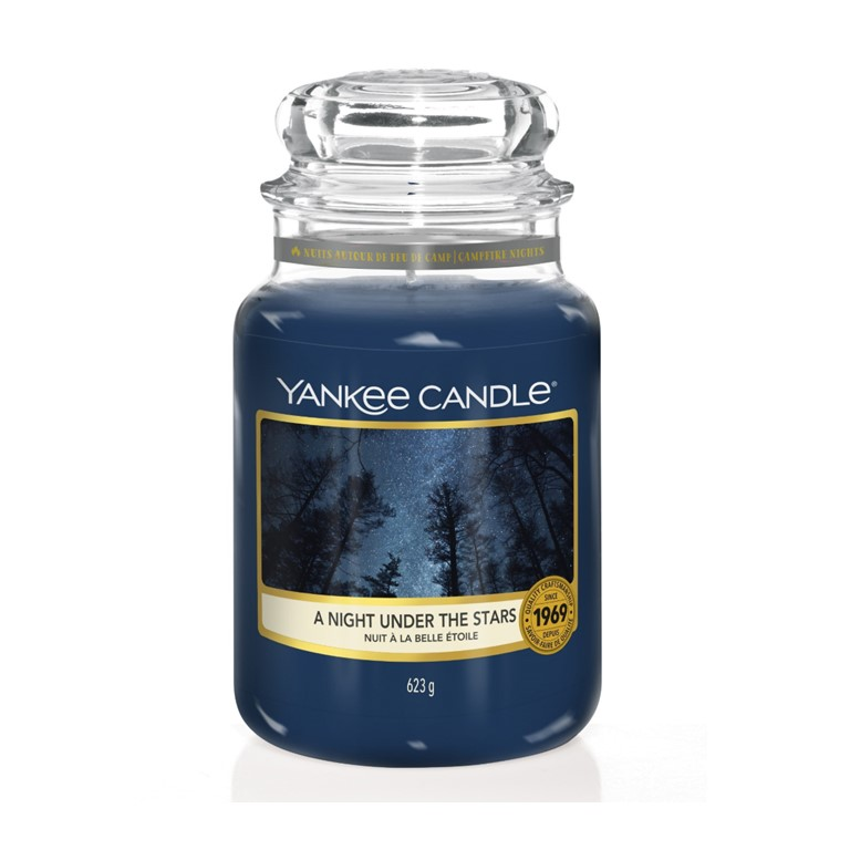 YANKEE CANDLE LARGE JAR A NIGHT UNDER THE STARS
