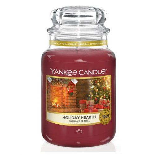 YANKEE CANDLE LARGE JAR HOLIDAY HEARTH