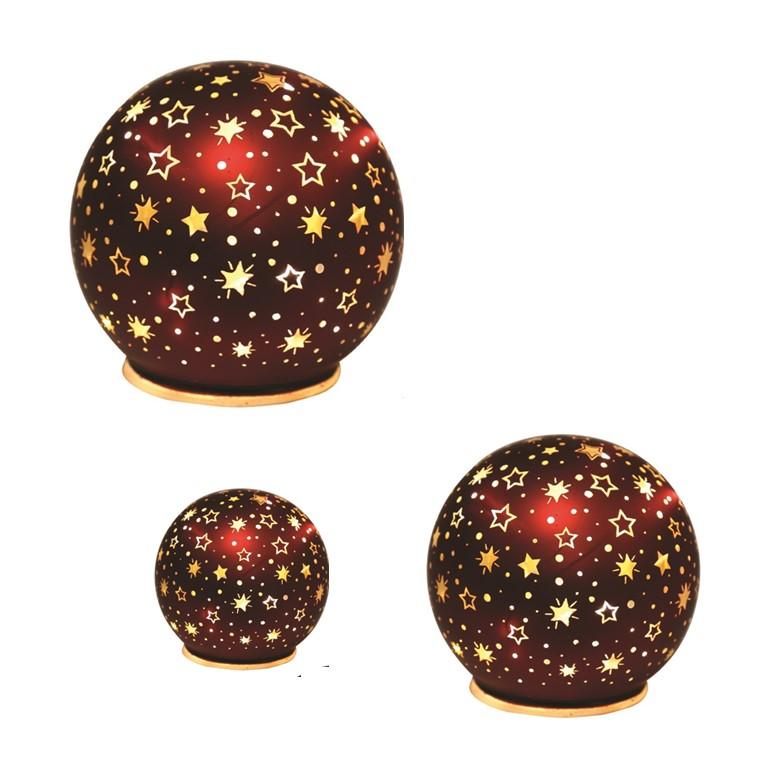 LED Christmas Star Globe Red