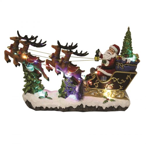 LED Musical Santa In Sleigh
