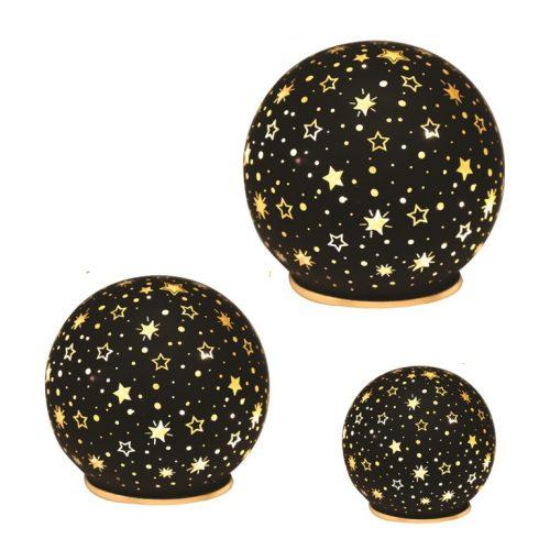 LED Christmas Star Globe Black